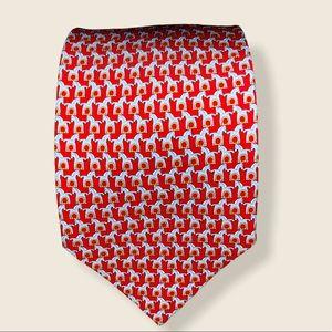 Ferragamo RARE 100% silk Trojan horse print tie